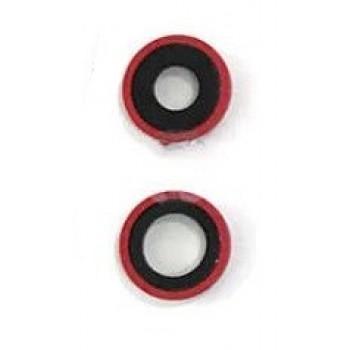 iPhone 11 kameros stikliukas su rėmeliu raudonas (2vnt) ORG