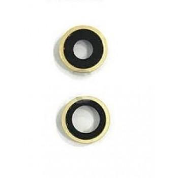 iPhone 11 kameros stikliukas su rėmeliu geltonas (2vnt) ORG