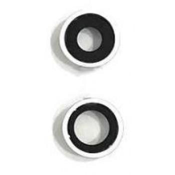 iPhone 11 kameros stikliukas su rėmeliu sidabrinis (baltas) (2vnt) ORG