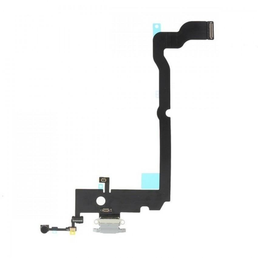 Lanksčioji jungtis Apple iPhone XS Max įkrovimo kontaktų, su mikrofonu pilka ORG