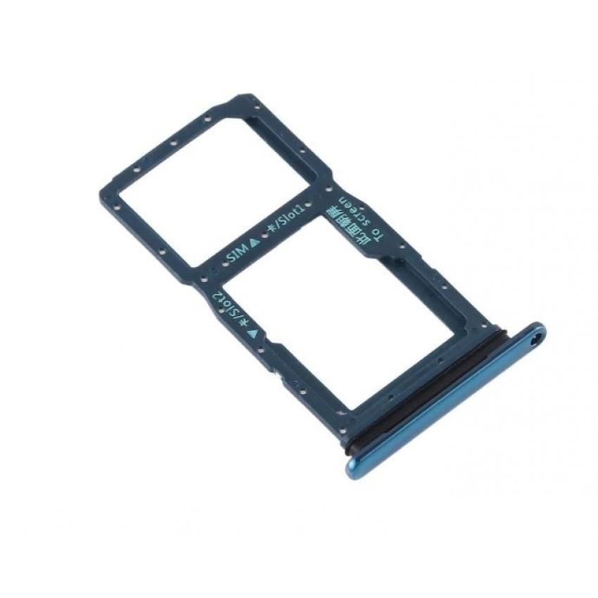 SIM card holder Huawei P Smart Z blue ORG