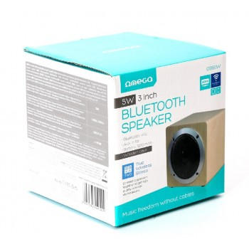 Bluetooth portable speaker OMEGA WOODEN OG60 (MicroSD, laisvų rankų įranga, AUX,FM) brown