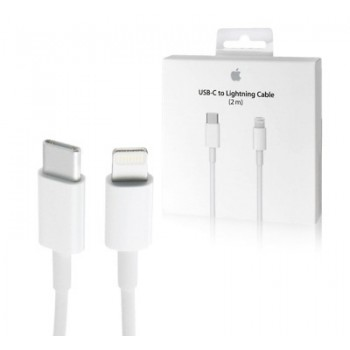 """USB cable Apple """"USB-C (Type-C) to Lightning Cable"""" (2M) (A1702) iPhone/iPad/iPod/Macbook/iMac/AirPods original (used Grade A) with box"""