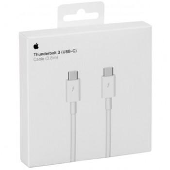 "USB cable Apple Thunderbolt 3 ""USB-C (Type-C) to USB-C (Type-C)"" (0.8M) (A1896) iPad/Macbook/iMac original (used Grade A)"