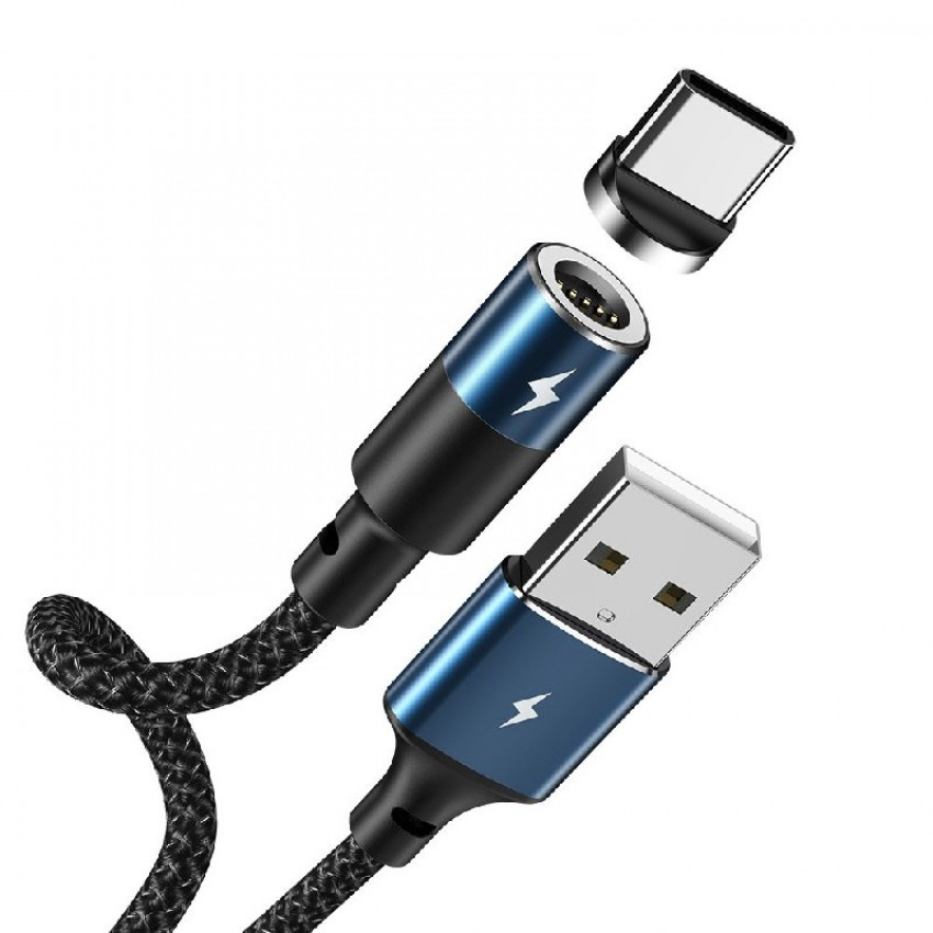 USB cable REMAX Magnetic type-C 1.2m (3A) black