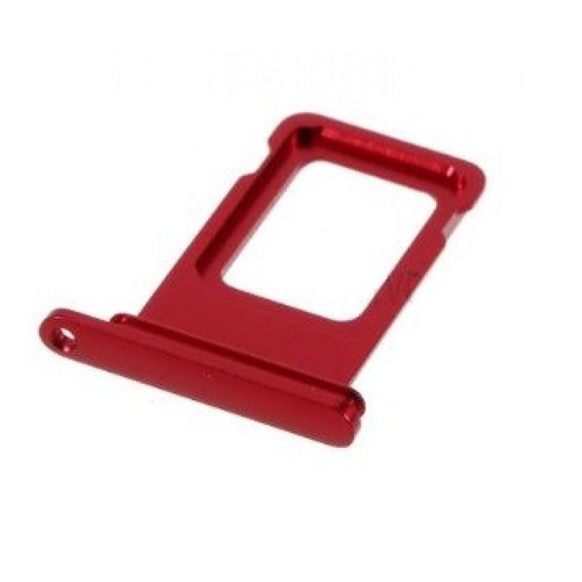 SIM card holder Apple iPhone 11 red ORG