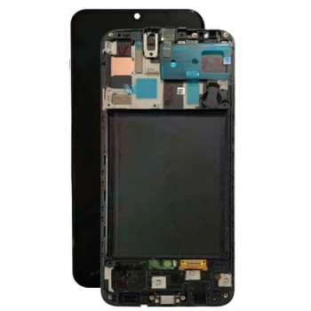LCD screen Samsung A505 A50 2019 with touch screen and frame black original (used Grade A)