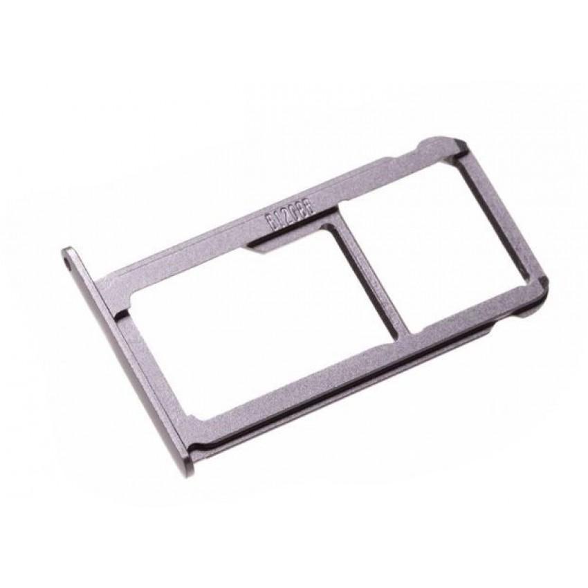 SIM card holder Huawei P9 (Dual) Titanium grey original (service pack)