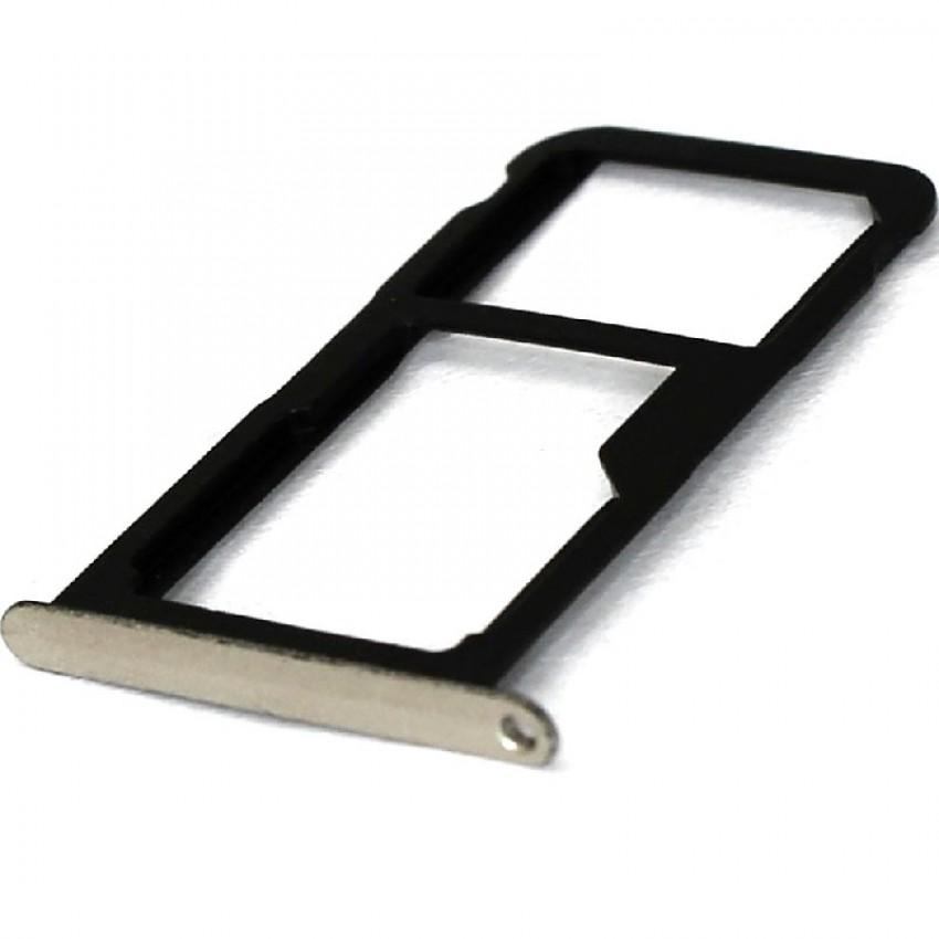 SIM card holder Huawei P9 Lite silver original (service pack)