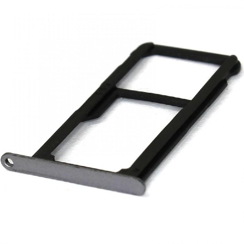 SIM card holder Huawei P9 Lite grey (black) original (service pack)