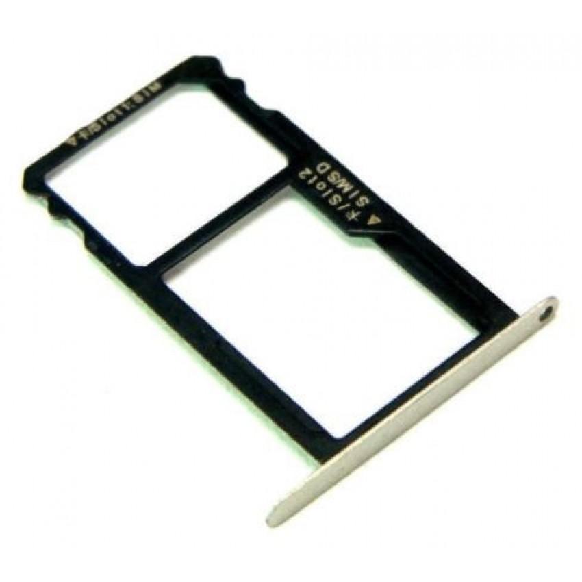 SIM card holder Huawei Honor 7 gold original (service pack)