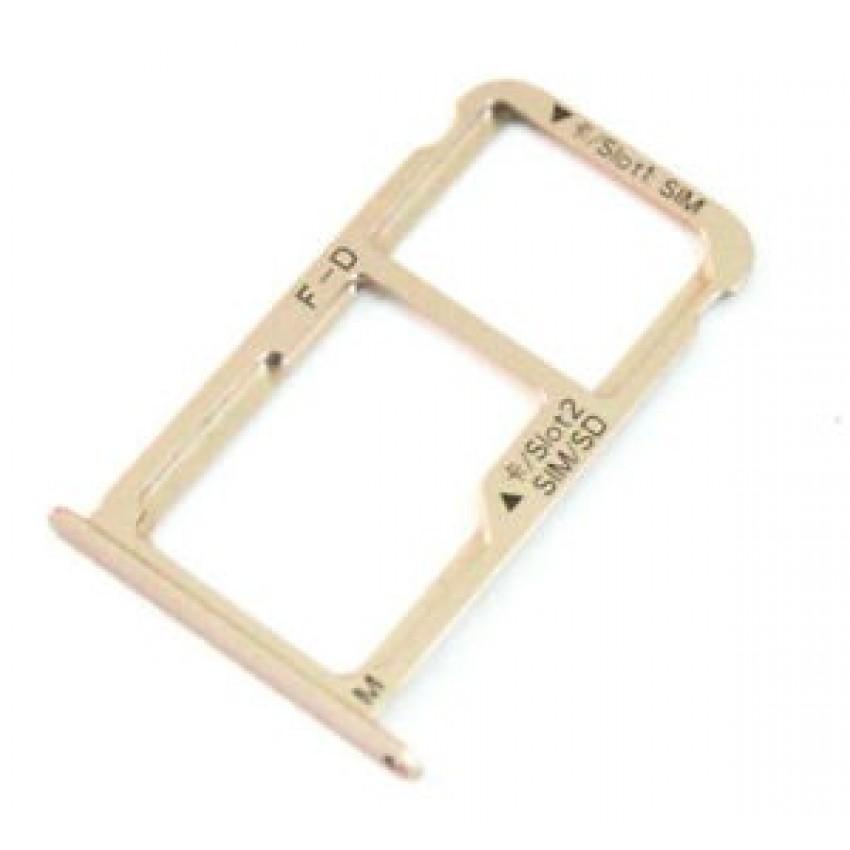 SIM card holder Huawei Mate 9 (Dual) gold original (service pack)