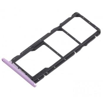 SIM card holder Huawei Honor Play violet original (service pack)