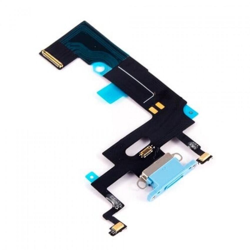 Lanksčioji jungtis Apple iPhone XR įkrovimo kontaktų, su mikrofonu mėlyna ORG