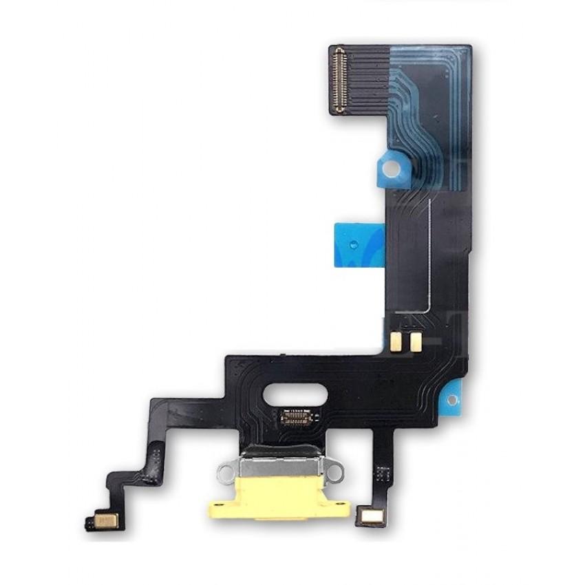 Lanksčioji jungtis Apple iPhone XR įkrovimo kontaktų, su mikrofonu geltona ORG