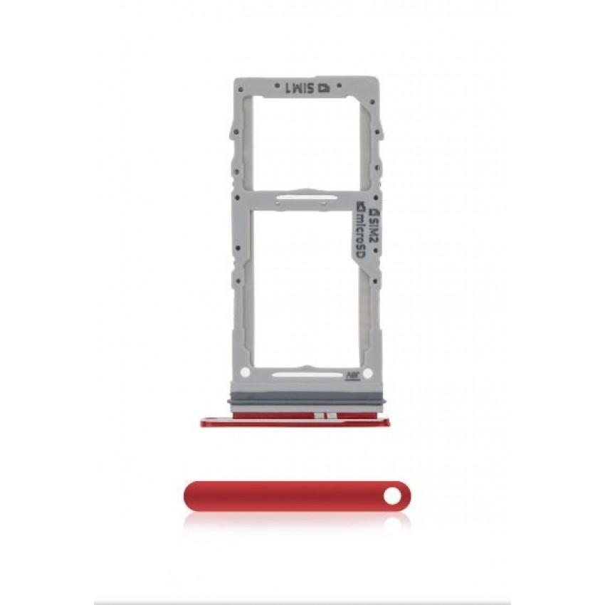 SIM card holder Samsung G980/G981/G985/G986 S20/S20 Plus Aura Red ORG