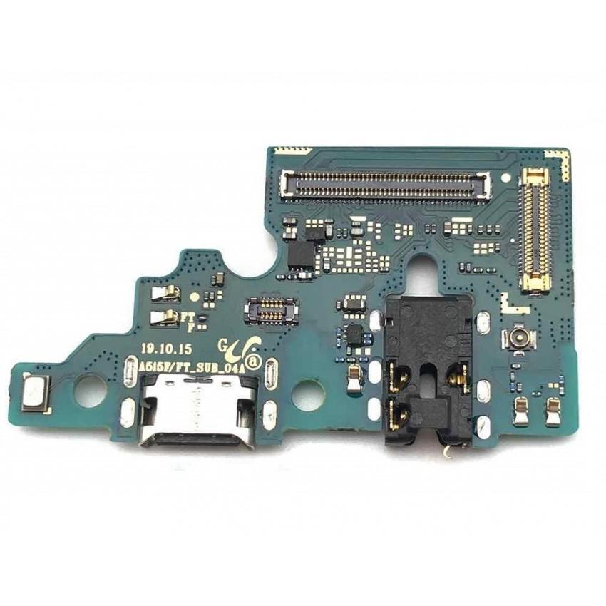 Lanksčioji jungtis Samsung A515 A51 2020 su įkrovimo kontaktu, mikrofonu, ausinių lizdu originali (service pack)