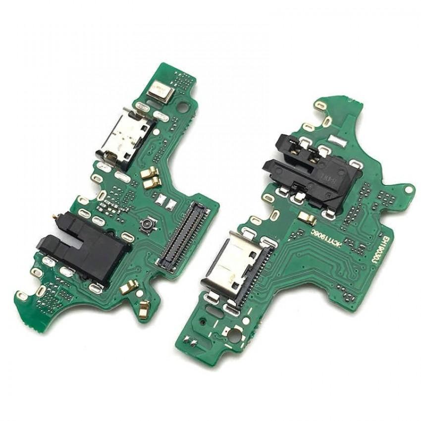 Lanksčioji jungtis Huawei P30 Lite su įkrovimo kontaktu, mikrofonu, ausinių lizdu originali (service pack)