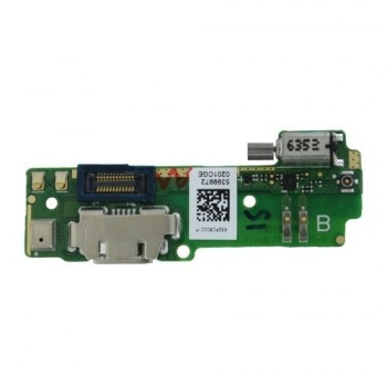 Lanksčioji jungtis Sony F3111/F3112 Xperia XA su įkrovimo kontaktu ir mikrofonu, vibratoriumi ORG
