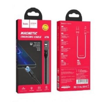 "USB cable HOCO U76 Fresh magnetic ""lightning"" 1m black"