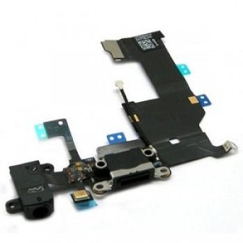 Lanksčioji jungtis Apple iPhone 5G audio ir įkrovimo kontaktų juoda naudota ORG