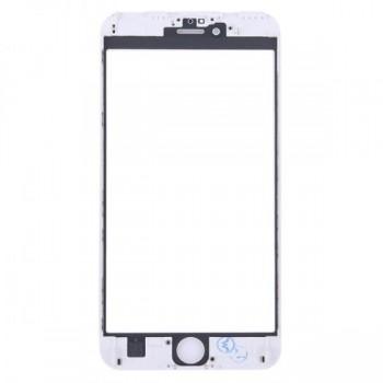 LCD stikliukas Apple iPhone 6 Plus su rėmeliu baltas ORG (v2)