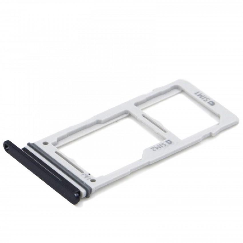 SIM card holder Samsung S10/S10+ DUAL Prism Black original (used Grade A)
