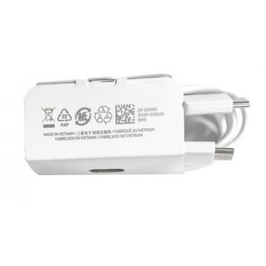 USB cable original Samsung S20, Note 10 Type-C (EP-DG980) white (1M)