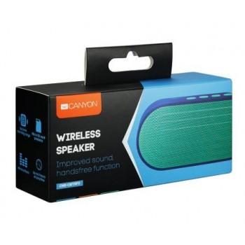 Bluetooth portable speaker CANYON CNS-CBTSP3 (MicroSD,AUX,BT V4.2,300mAh) blue
