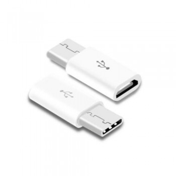 Adapter from MicroUSB į Type-C white