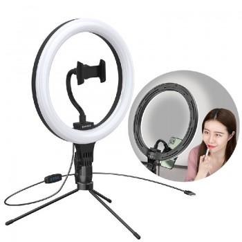 Baseus photo ring flash light LED lamp 10' black