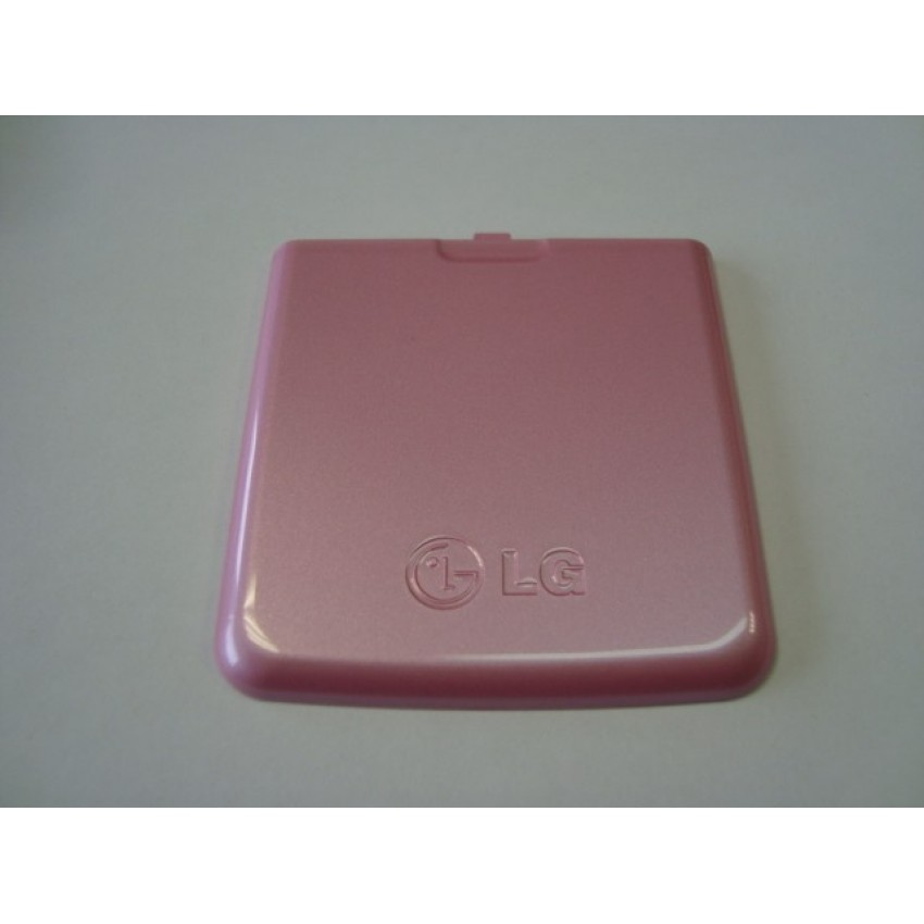 LG KP500 baterijos dangtelis rožinis ORG
