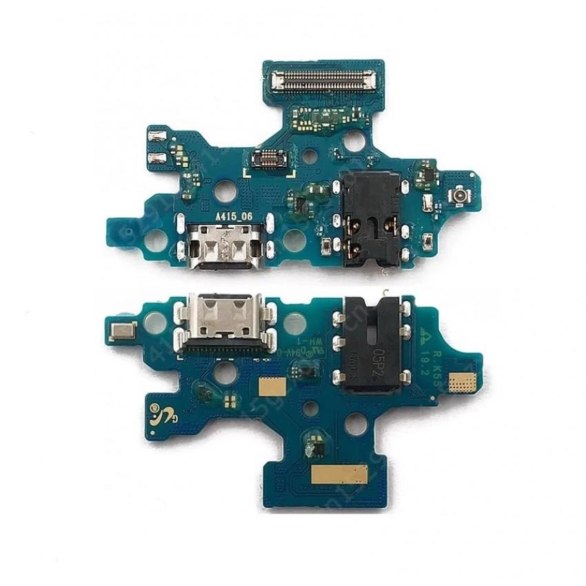 Lanksčioji jungtis Samsung A415 A41 2020 su įkrovimo kontaktu, mikrofonu, ausinių lizdu ORG