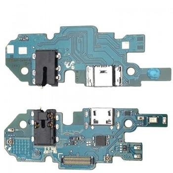 Lanksčioji jungtis Samsung A105 A10 2019 Single SIM (SUB 0.2) su įkrovimo kontaktu, mikrofonu, ausinių lizdu originali (service pack)