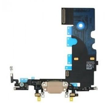 Lanksčioji jungtis Apple iPhone 8 Plus įkrovimo kontaktų, su mikrofonu auksinė naudota ORG