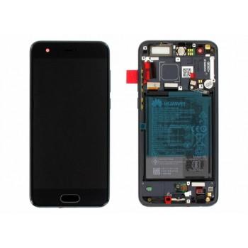 Ekranas Huawei Honor 9 su lietimui jautriu stikliuku su rėmeliu ir baterija juodas originalus (service pack)