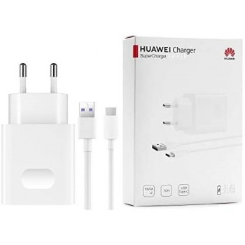 Charger original Huawei USB SuperCharge 22,5W + type-C cable white