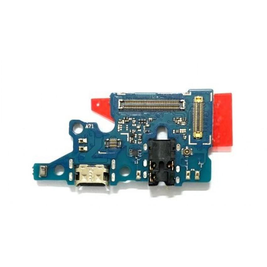 Lanksčioji jungtis Samsung A715 A71 2020 su įkrovimo kontaktu, mikrofonu, ausinių lizdu originali (used Grade A)