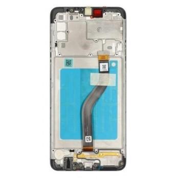 Ekranas Samsung A207F A20s su lietimui jautriu stikliuku juodas originalus (service pack)