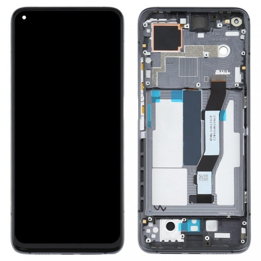 LCD screen Xiaomi Mi 10T with touch screen with frame black original  (service  pack)