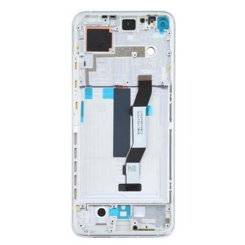 LCD screen Xiaomi Mi 10T with touch screen with frame silver original  (service  pack)