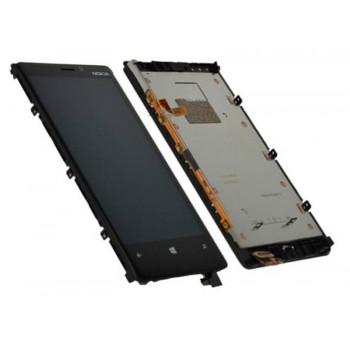 Ekranas Microsoft (Nokia) Lumia 920 su lietimui jautriu stikliuku ir rėmeliu juodas originalus (used grade B)