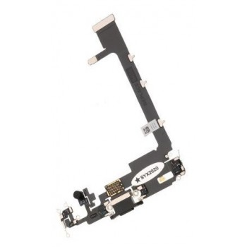 Flex Apple iPhone 11 Pro Max  for charging connector with microphone black ORG