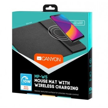 Mouse mat Canyon with wireless charger black