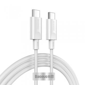 """USB cable Baseus Xiaobai """"USB-C (Type-C) to USB-C (Type-C)"""" (100W 5A) white 1.5M"""