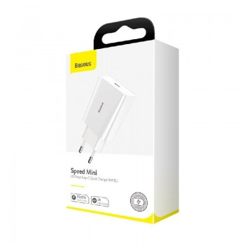 Charger Baseus CCFS-X02 FastCharge Type-C 3A (18W) white