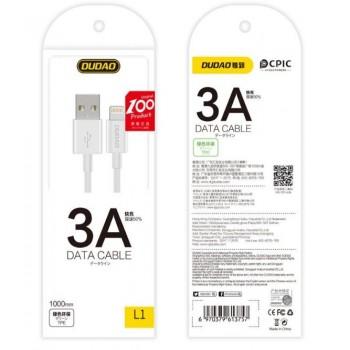 USB cable Dudao L1 type-C (3A) 1m white