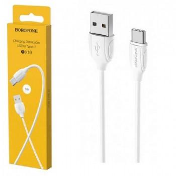USB cable BOROFONE BX19 Benefit type-C white 1m