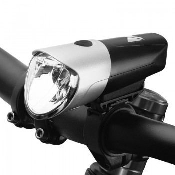 Wozinsky Front Bicycle Light WFBLB1 (USB) black-silver
