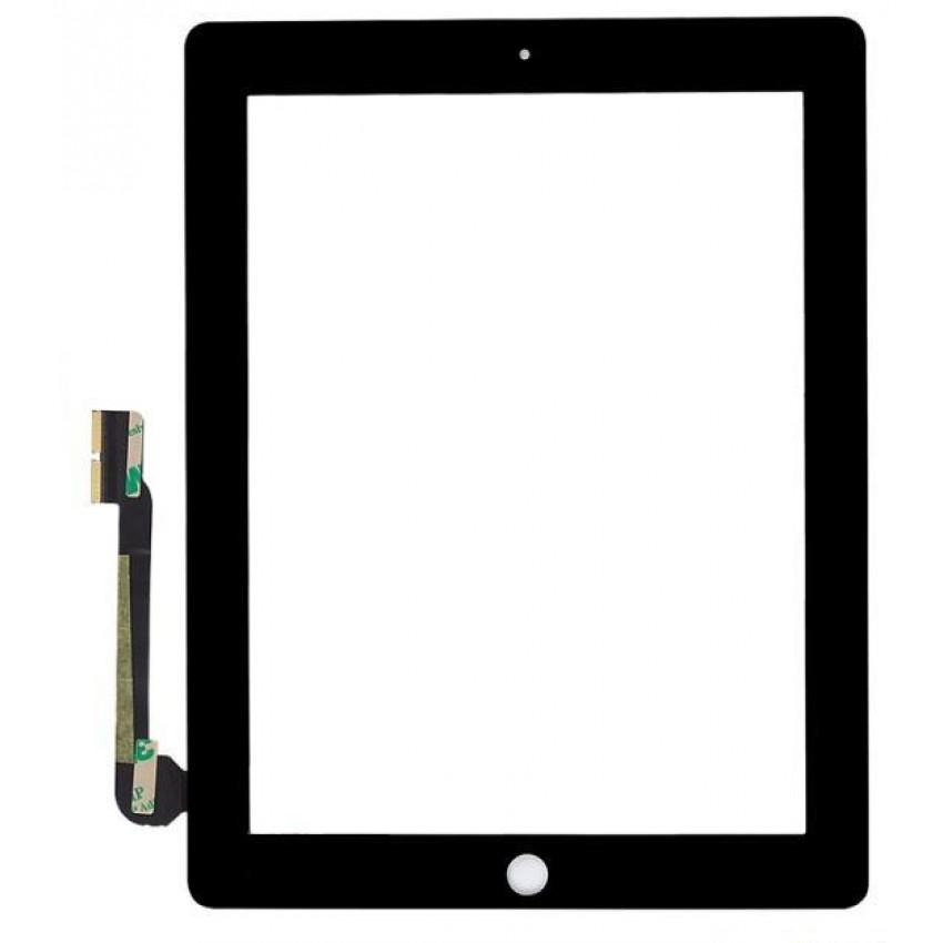 Lietimui jautrus stikliukas iPad 3/iPad 4 juodas HQ